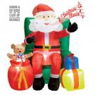 Babbo Natale Seduto Poltrona con Regali EP 10103 Uso Interno, Esterno Effettoparty Store Marchirolo