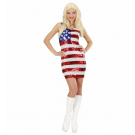 Vestito da donna Miniabito in pailettes Miss USA Costume Carnevale *19993 effettoparty store