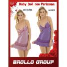 Completo Intimo Lingerie Donna Baby Doll e Perizoma 3105