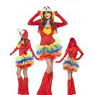 Costume Carnevale tutu' Donna animale pappagallo smiffys 55021