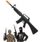 Arma Giocattolo Fucile Assalto M16, accessorio costume carnevale S.w.a.t. | pelusciamo store
