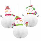 3 Pupazzi di Neve, Decorazione festa Natale   | Effettoparty.com