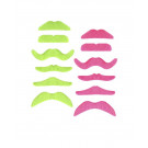 Set 6 Baffi Adesivi Colore Neon , Make Up Fluo Trucco