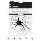 Banner Spider Accessori Arredo Party Halloween 213 cm. *01085 | Effettoparty.com