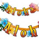 Banner Festone Scritta Aloha *08811 Hawaii   | Effettoparty.com