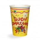 Confezione Bicchieri Carta Buon Compleanno | Effettoparty.com