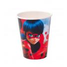 Accessori Festa Compleanno Ladybug Bicchieri Carta    | Effettoparty.com