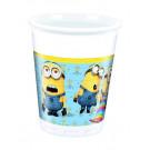 Festa Compleanno Tema Minion , 8 Bicchieri 200 ml     Effettoparty.com