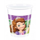 8 Bicchieri Plastica Party Principessa Sofia | Effettoparty.com