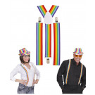 Accessorio Costume Carnevale, Bretelle Multicolore