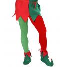 Calze Bicolore Rosso e Verde per Travestimento da Elfo