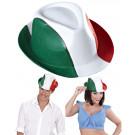 Cappello Fedora tricolore bianco rosso verde tifosi Italia *02106 effettoparty
