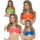 Reggiseno A Petali Hawaiian Floreale Ladies Party hawaiano EP 03261 EFFETTOPARTY STORE