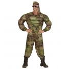 Vestito Carnevale Adulto, Mimetica Militare Muscoloso| Effettoparty.com