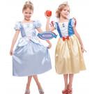 Travestimento Vestito Bambina 2 in 1 , Cenerentola e Biancaneve Disney   | effettoparty.com