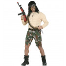 Abito Carnevale Adulto Milirate Travestimento Soldato con Muscoli | Effettoparty.com