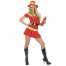 Vestito Carnevale Donna , Costume Sexy Vigilessa del Fuoco     | Effettoparty.com