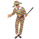 Costume Carnevale Adulto Arlecchino, Travestimento Veneziano * 19793 (Default)