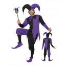 Costume Carnevale Adulto Giullare Travestimento medioevo