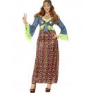 Costume Carnevale Donna Figli dei Fiori Taglie Forti Hippie EP 08059 Pelusciamo Store Marchirolo