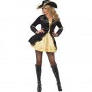 Travestimento Costume Carnevale Donna Sexy Pirata Nero Oro EP 12551Effettoparty Store Marchirolo