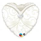 Palloncino per Matrimonio in Foil , Vestito Sposa *03461 | Effettoparty.com