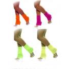Accessorio costume carnevale scaldamuscoli calze neon fluo anni '80 | pelusciamo.com