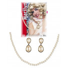 Accessori Costume Carnevale donna set collana e orecchini Merilyn *19871 Pelusciamo store