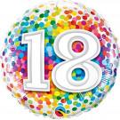 Palloncino in Foil 45 cm , Festa Compleanno 18 anni  | Effettoparty.com