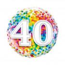 Palloncino in Foil 45 cm , Festa Compleanno 40 anni | Effettoparty.com