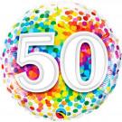 Palloncino in Foil 45 cm , Festa Compleanno 50 anni   | Effettoparty.com