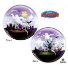 Palloncino Bubbles 56 cm   Notte  Halloween al Cimitero con Fantasmi *11308 | Effettoparty.com