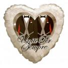 Palloncino Matrimonio Gay  in Mylar Cuore Uomini  46 cm | pelusciamo.com