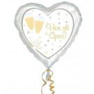 Palloncino per Matrimonio in Foil , Cuore W Gli Sposi  *03464 | Effettoparty.com