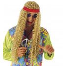 Accessori Costume Carnevale Parrucca lunga hippie con fascia *20067 effettoparty store