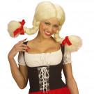 Parrucca Bionda Con Treccione Heidi EP 08602 Accessori Carnevale Effettoparty Store Marchirolo