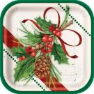 Confezione 10 Piatti in Carta Vischio, Arredo Festa Natale e Capodanno  | Effettoparty.com