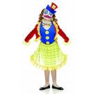 Costume Carnevale da pagliaccio clown fiorella *05274   effettoparty