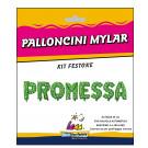 Kit Palloncini  Foil  , Scritta Promessa  *03455 | Effettoparty.com