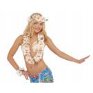 Accessorio costume carnevale Set Collana Hawaiana Bianca  | effettoparty.com