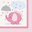 Accessorio Festa Baby Shower Bimba,Tovaglioli in Carta  PS 20673   Effettoparty.com