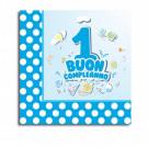 20 Tovaglioli  carta 1° Compleanno Bimbo  | Effettoparty.com