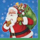 Confezione 16 tovaglioli in carta con stampa Babbo Natale Regali | Effettoparty.com