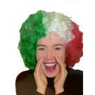 Parrucca Riccia Bandiera Italiana , Italia Adulto
