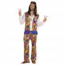 Abito Carnevale Adulto Anni 60, Travestimento Hippie | Effettoparty.com