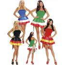 Costume Carnevale Donna Abito Miss Nazionali Calcio EP 10005 Pelusciamo Store Marchirolo