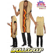 Costume Carnevale Adulto Hot Dog travestimento Panino *09864