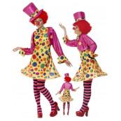 Costume Carnevale Clown Travestimento Donna Pagliaccio EP 12217