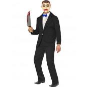 Costume Carnevale Halloween Adulto Ventriloquo Marionetta Horror *17104
