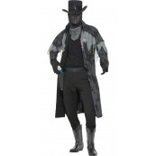 Travestimento Carnevale Halloween Adulto Sceriffo Fastasma Western *17048